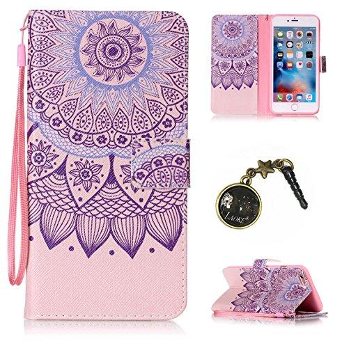 PU Cuir Coque Strass Case Etui Coque étui de portefeuille protection Coque Case Cas Cuir Swag Pour Apple iPhone 6 Plus (5.5 pouces)+Bouchons de poussière (5OO) 4