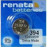 Pile de montre de Renata Renata fait-Swiss 394 ou SR936SW ou AG9 1.5V rapide navire (5 x 394 ou SR 936 SW)