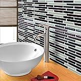 gel 3d effetto mosaico autoadesivo Splashback Piastrelle Adesivi per piastrelle adesivo per cucina/bagno ¡, NewBrick, Confezione da 8