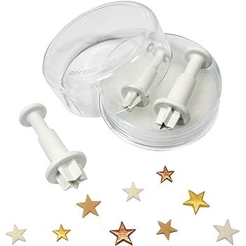 PME SA700 Sternprägeausstecher, kleines, mittleres und großes Format, Kunststoff, Weiß, 2 x 2 x 5 cm, 1 Einheiten