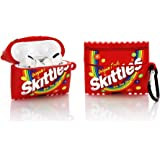 YIGEYI Siliconen Case Compatibel met Airpods Pro Grappige Leuke 3D Cartoon Cover [Leuke Snacks-Serie] (Skittles)