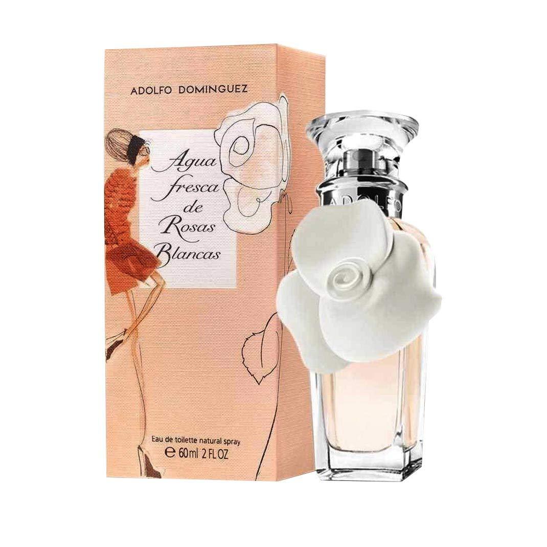 Adolfo Dominguez, Agua de tocador para mujeres (rosas blancas) - 120 ml.