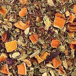 Kräutertee aromatisiert Schweizer Kräutertee Natürlich 500g mit Orange-Minze-Geschmack Nachfüllpack Lose