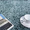 Vancouver Duck Egg Blue Grey Soft Touch Easy Clean Living Room Shaggy Rugs produced by The Rug House - uk fast delivery