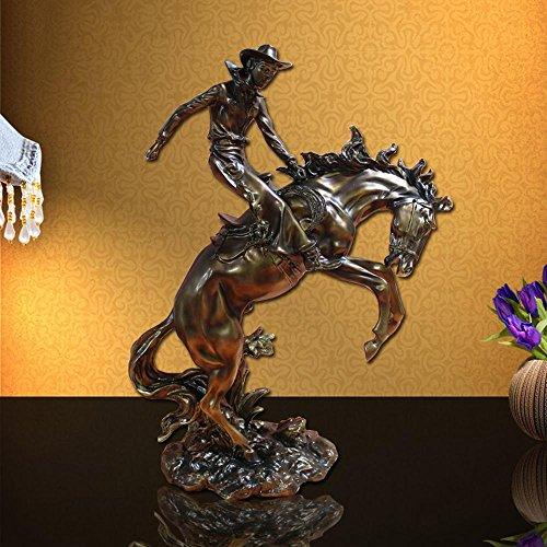 ZYT Amerikanische klassische Harz Haus Dekoration Ideen Cowboy Pferd dekorative display . 44*21*65