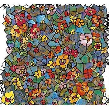 Klebefolie print tiffany mosaik 200x45cm dekofolie selbstklebefolie m belfolie garten - Selbstklebefolie mosaik ...
