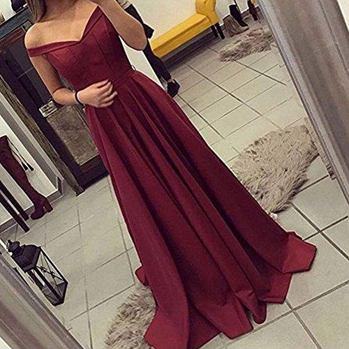 Baijinbai Elegant Damen Lang AbendKleider 2018 Ballkleid Brautjungfernkleider Cocktail Pailetten besetzte Kleider S12 Purple