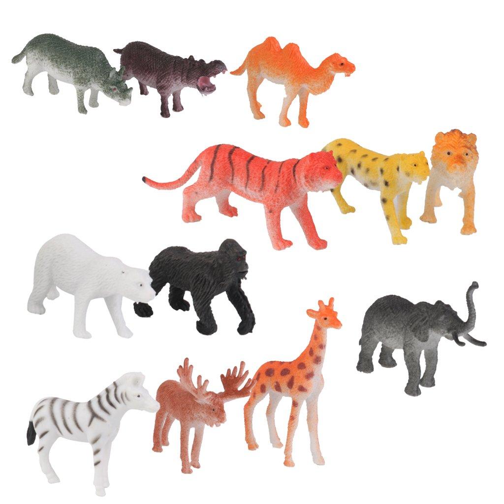12 Pcs Giocattolo Modello Animale Aziona Figura Scimmia Plastica PVC