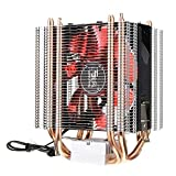 PANGUN LED 4 Wärmeleitung Leise CPU Kühler Kühlung Ventilator Wärme Spülung Für Intel Lga 1151 1155 775 1156 AMD-Rot