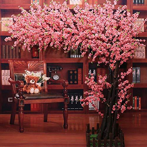 XNNSH Rosa Künstliche Kirschblütenbaum Künstliche Pflanze für Hochzeit Veranstaltung Indoor Outdoor Party Restaurant Mall Seidenblume (10FT / 3 Mt)
