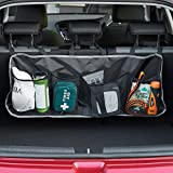 VonHaus Mesh Pocket Hanging Car Boot / Trunk Storage Organiser with Velcro Strapping | Built-to-last 1680D Premium Durable Oxford Fabric | Great for sorting Car essentials