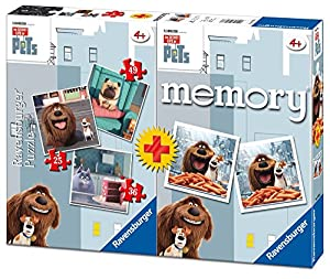 Secret Life Of Pets - Multipack Memory + 3 Puzzles (Ravensburger 06872)