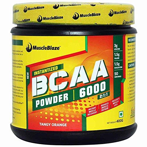 MuscleBlaze BCAA 6000 , 400g (50 Servings)