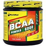 MuscleBlaze BCAA 6000 amino acid powder - 0.88 lb/ 400g, 50 Servings (Tangy Orange)