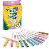 Crayola SuperTips - Pennarelli Lavabili per Bambini a Punta Media, per Scuola e Tempo Libero, Colori Pastello, 58-7515