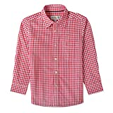 Almsach Trachtenhemd Klausi für Kinder in Rot inklusive Volksfestfinder, Farbe:Rot, Größe:92/98