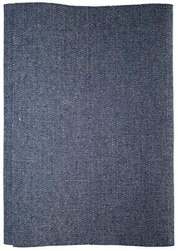 Jajasio 1 Stk. Jeans Flicken zum Aufbügeln XXL 43x20 cm Bügelflicken/Farbe: 03 – dunkelblau
