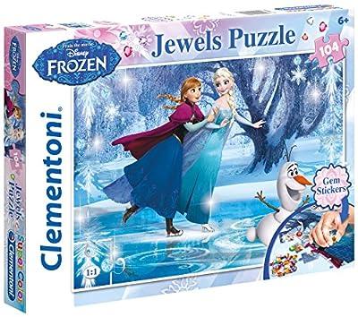 Disney Frozen - Puzzle 104 Piezas, con Joyas (Clementoni 206018) por Clementoni