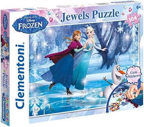 CleHommes toni - 20601.8 - Puzzle Bijoux - La Reine des Neiges -  104 Pièces | De Grandes Variétés