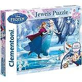 Frozen - Puzzle 104 piezas, con joyas (Clementoni 206018)
