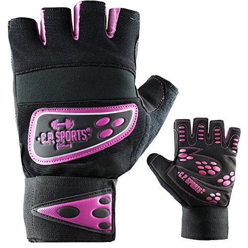 C.P. Sports Profi-Grip-Bandagen-Handschuh Fitness-Handschuh pink M