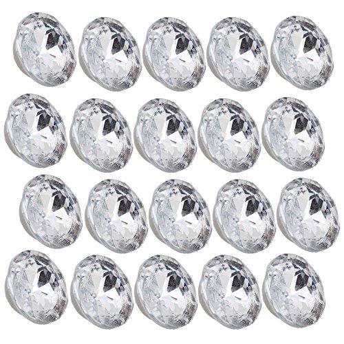20Stück 20mm Dia Kristall klar mit Runde Knöpfe kreisteppungen Sofa Polster Kopfteil (Crystal Polster-tasten)