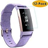 KIMILAR Kompatibel Fitbit Charge 3 Schutzfolie [12 Stück], Volle Abdeckung Folie Flexibel Kristallklare Displayschutzfolie für Fitbit Charge 3 & Special Edition