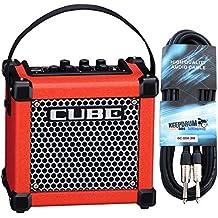 Roland Micro Cube GX Guitarra Amplificador + Keepdrum Guitarra Cable 3m, rojo