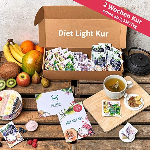 Abnehmen Diät Kur (Light Version)   2 Wochen   100% vegetarischer Ernährungsplan   3 Superfood Produkte & Rezepte pro Tag   Vitalität   Negative Kalorienbilanz   Fitness-Übungen   Coaching