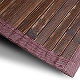 Bambusteppich Oak | für Bad und Wohnzimmer | natürlich wohnen mit 100% echtem Bambus | Bambusmatte in vielen Größen (120x180 cm)
