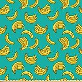 ABAKUHAUS Banane Stoff als Meterware, Tropic Fruit Vivid,