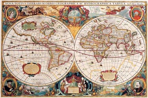 empireposter - Landkarten - Antike Weltkarte - Größe (cm), ca. 91,5x61 - Poster, NEU -