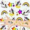 German Trendseller® - 12 x tatuajes temporales unicornio ┃fiesta unicornio┃los colores del arco iris┃ fiestas infantiles┃ idea de regalo┃piñata┃cumpleaños de niños┃ 12 unidades…