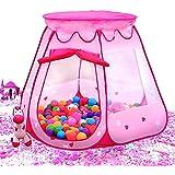 BATTOP Princesse Tente à L'intérieur et à L'extérieur des Enfants de 1 à 8 ans, Les jeux n'inclut pas Les jouets tente