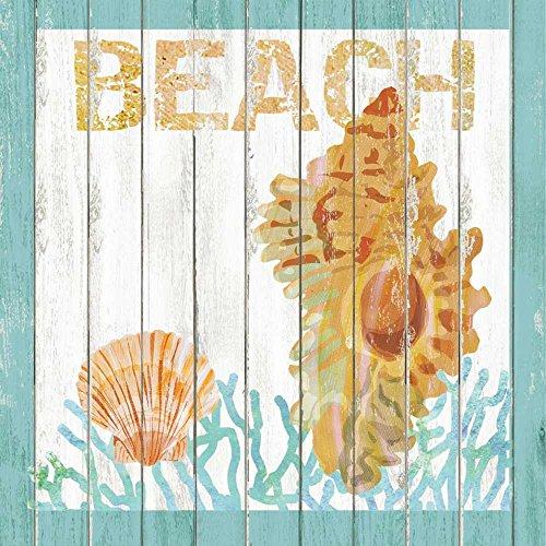 Paperproducts Design Design 1252014Hohe Qualität Getränk/Cocktail Rustikal Strand Muscheln und Coral Papier Servietten (20Stück), multicolor