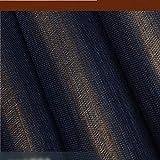 TONGSS Natürliche Beschaffenheit Dunkelblauer Goldener Metallischer Echter Sisal-Tapete Grasscloth-Bedingroom-Dekor, Blau