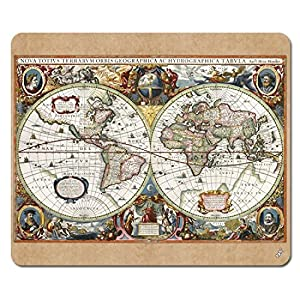 1art1 Mapas Históricos – Carta del Mundo, Nova Totius Terrarum, 1630 Alfombrilla para Ratón (23 x 19cm)