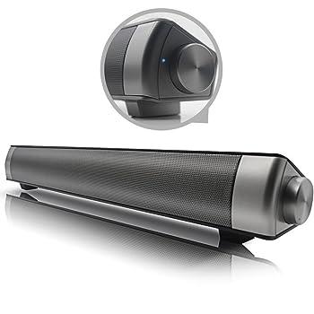 Mini Bar sans Fil 360 °   Barre de Son Surround stéréo Haut-Parleur Bluetooth avec Super Bass pour Une Utilisation avec TV, iPhone, iPad, Android Smartphone par Emperor of Gadgets®