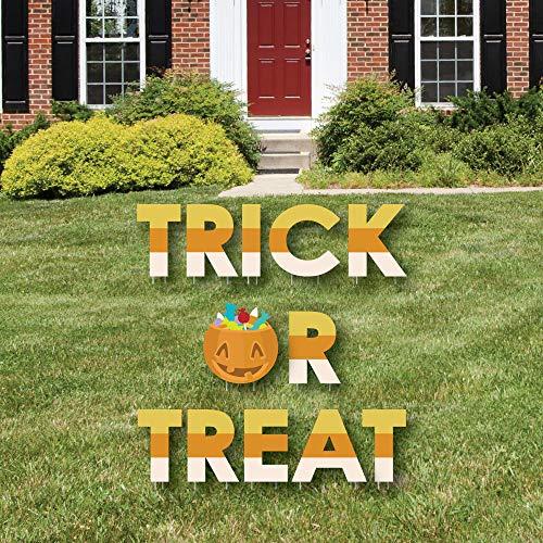 Big Dot of Happiness Trick Treat - Yard Sign Outdoor Rasn Dekorationen - Halloween Party Yard Schilder - Trick Treat