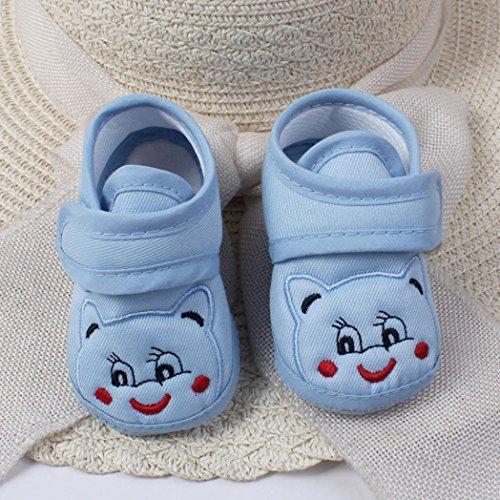 Clode® Baby Girl Boy Soft Sohle Karikatur Anti-Rutsch Schuhe Kleinkind Schuhe Casual Schuhe Blau