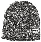Neff Fold – Mütze, Schwarz/Grau, meliert Einheitsgröße schwarz - schwarz/weiß