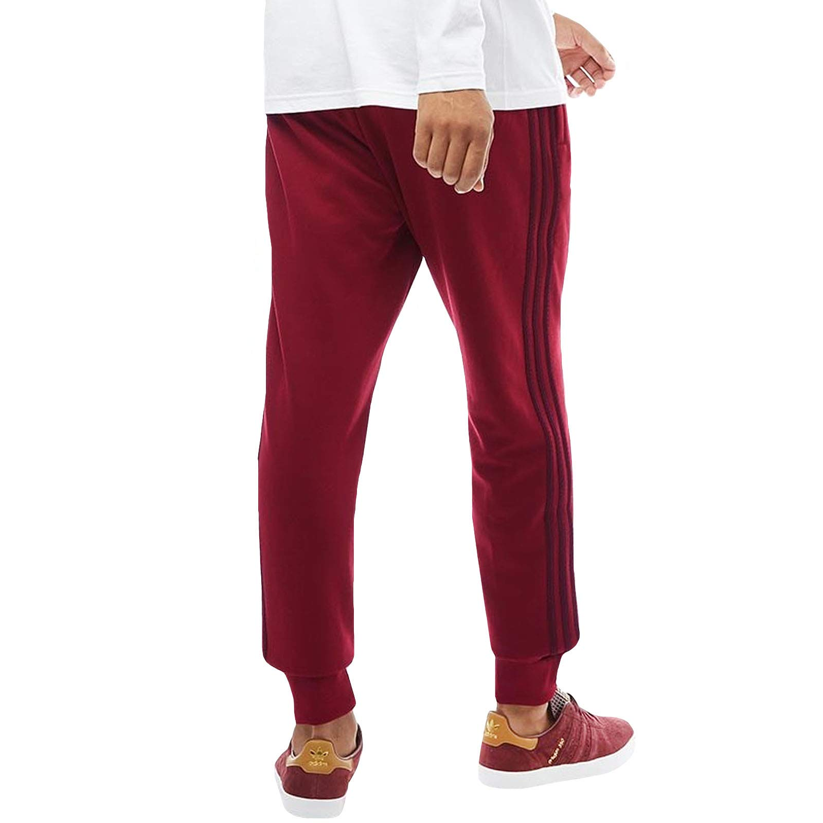 adidas pantaloni uomo bordeaux