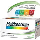 Multicentrum Complemento Alimenticio Multivitaminas con 13 Vitaminas y 11 Minerales, Sin Gluten, para Adultos y Adolescentes