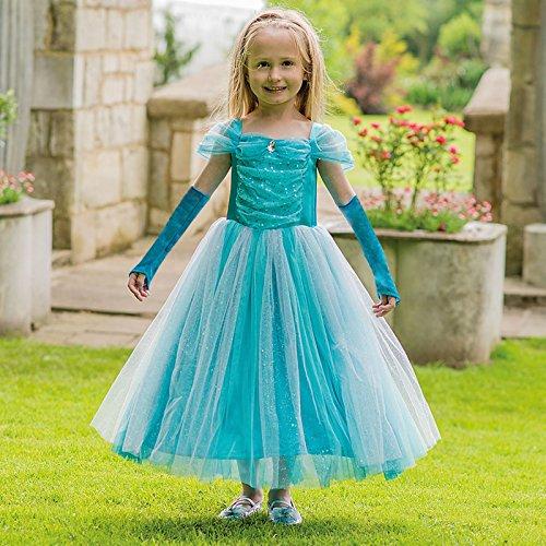(Amscan Kleid bis tspr9türkis sparkle Prinzessin Kleid bis, Mädchen, nicht massiv Farbe, 9–11Jahre)