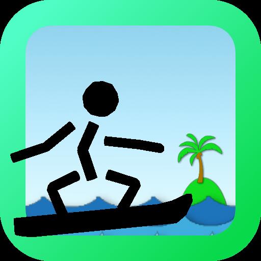 Surfing Stick man