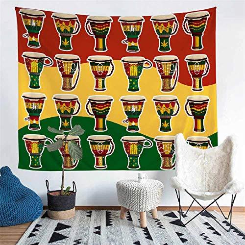 WANGYORTE Home afrikanischen Stil Wandteppich Wandbehang Strand Picknickdecke Camping Zelt Isomatte -277_104X88inch
