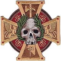 Titan One Europe Hook Fastener Inquisition 40k Sigmar Cross Skull Biker Patch Parche Motero Bordado Gancho