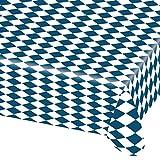 NET TOYS Oktoberfest Tischdecke Bayern Tischtuch 2,6 m x 80 cm Wiesn Plastik Partytischdecke Party Deko Tisch Decke Bierzelt Plastiktischdecke Bayernraute Dekoration Accessoires Partydeko Bayrisch