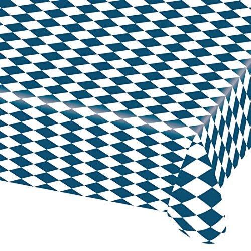 Preisvergleich Produktbild Oktoberfest Tischdecke Bayern Tischtuch 2,6 m x 80 cm Wiesn Plastik Partytischdecke Party Deko Tisch Decke Bierzelt Plastiktischdecke Bayernraute Dekoration Accessoires Partydeko Bayrisch