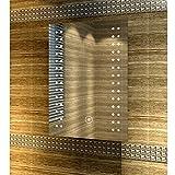Badspiegel mit energiesparender LED-Beleuchtung kaltweiß IP44 [Energieklasse A+] 50 x 70cm beschlagfrei